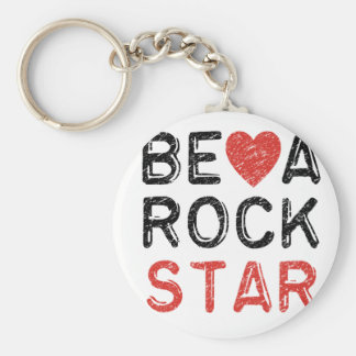 Be a rock star key ring