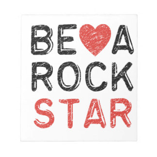 Be a rock star notepad