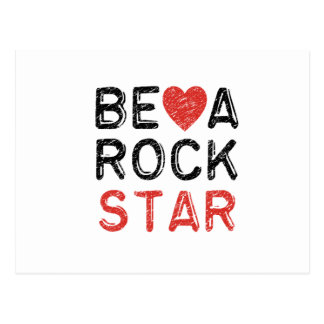 Be a rock star postcard
