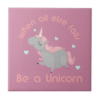 Be a Unicorn Small Square Tile