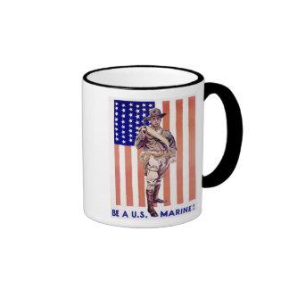 Be A US Marine Coffee Mugs