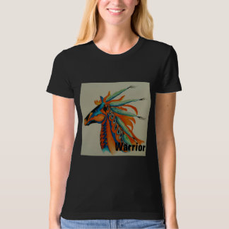 """""""Be a Warrior"""" Womens Watercolor T-Shirt"""