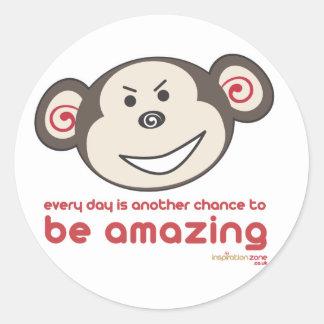 Be Amazing Monkey Stickers (cheeky)