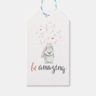 Be Amazing Music Bunny Gift Tags