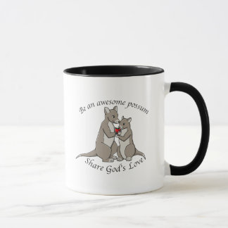 Be an awesome possum - share God's love Mug