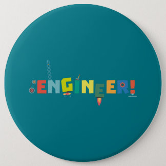 Be an Engineer with Tools Z8c69 6 Cm Round Badge