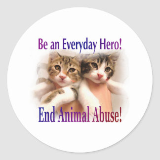Be an Everyday Hero Classic Round Sticker