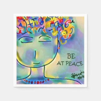 BE AT PEACE - set of 50 custom napkins Disposable Serviettes