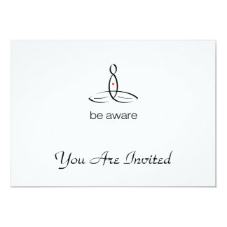 Be Aware - Black Regular style 13 Cm X 18 Cm Invitation Card