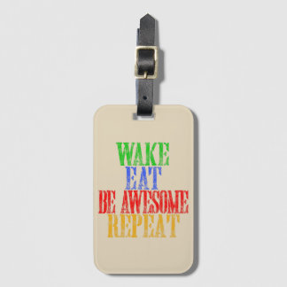 Be Awesome! Luggage Tag