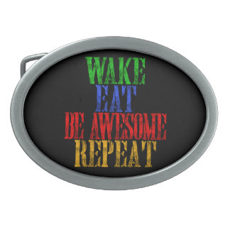 Be Awesome! Oval Belt Buckle