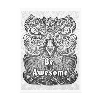 Be Awesome - Positive Statement Quote Canvas Print