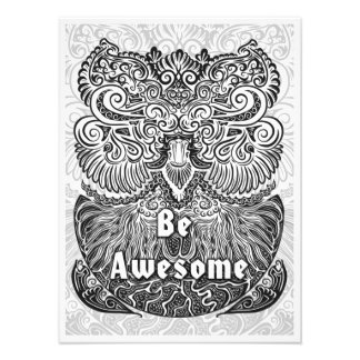 Be Awesome - Positive Statement Quote Photo Print