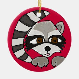 BE- Awesome Raccoon Cartoon Ornament