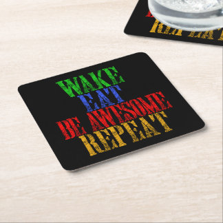 Be Awesome! Square Paper Coaster