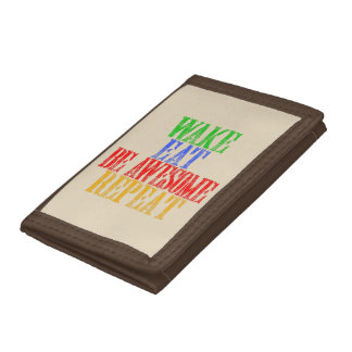 Be Awesome! Tri-fold Wallets