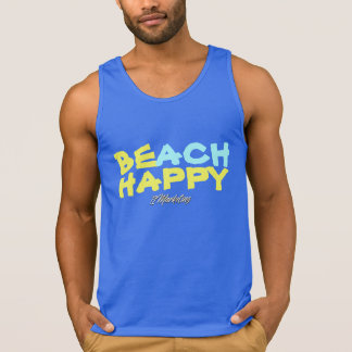 BE BEACH HAPPY tank summer sleeveless ocean