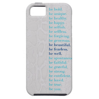 Be Beautiful. Be Fearless. Be Well Iphone 5 case! iPhone 5 Case