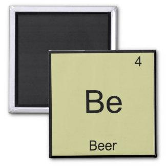 Be - Beer Funny Chemistry Element Symbol T-Shirt Square Magnet