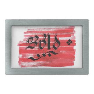 Be bold rectangular belt buckle