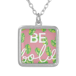be bold silver plated necklace