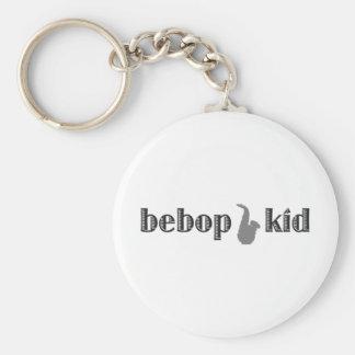 Be Bop Kid Basic Round Button Key Ring
