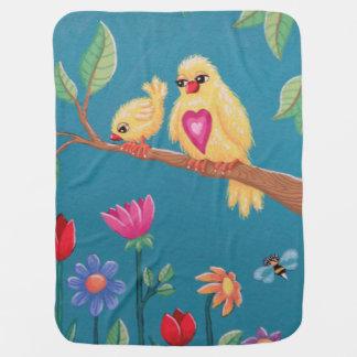 Be Brave Baby Bird! Sweet bird design from Soozie Baby Blanket