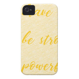 be brave be strong be powerful iPhone 4 cover