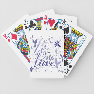 Be Brave Blue Bicycle Playing Cards