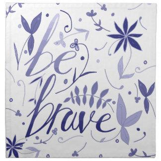 Be Brave Blue Napkin