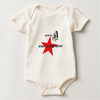 be brave but faster then wolf baby bodysuit