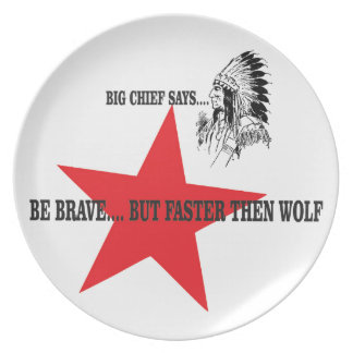 be brave but faster then wolf plate