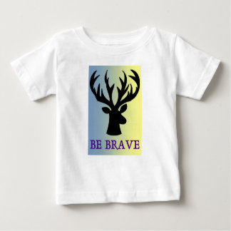 Be brave deer head shadow baby T-Shirt
