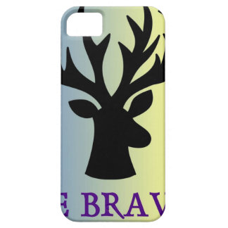Be brave deer head shadow iPhone 5 cover