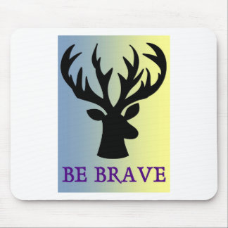 Be brave deer head shadow mouse pad