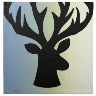 Be brave deer head shadow napkin