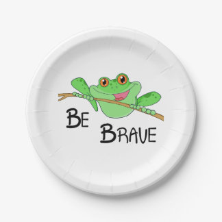 Be Brave Frog Paper Plate
