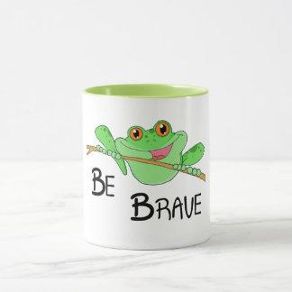 Be Brave Kidney Awareness Frog Mug