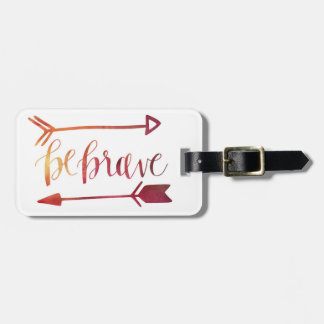 """""""Be Brave"""" leather travel tag"""