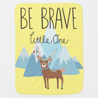 Be Brave Little One, neutral baby blanket