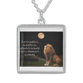 Be brave square pendant necklace