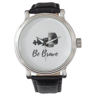 Be Brave Pawn Chess Watch