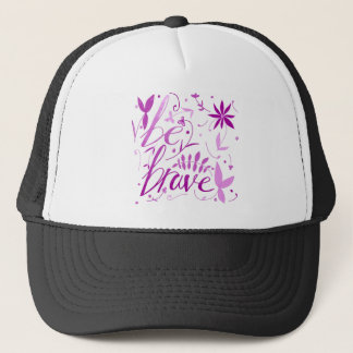 be brave pink trucker hat
