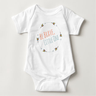 Be Brave Tribal Arrow Boho Teal Coral Baby Bodysuit