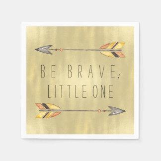 Be Brave Tribal Baby Shower Paper Napkin