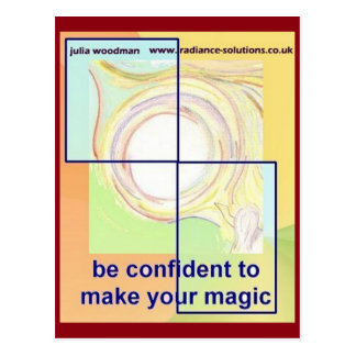 Be Confident to Make Your Magic: Text/Art Postcard