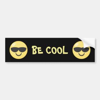 Be Cool Sunglasses Emoji Bumper Sticker