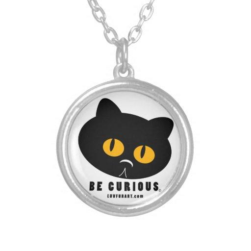 Be Curious Cat necklace