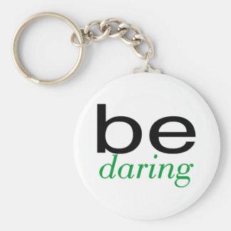 Be Daring Green Key Ring