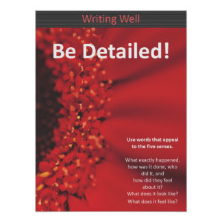 Be Detailed Red Poster